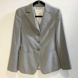 Calvin Klein grey 3 button tailored jacket/ blazer